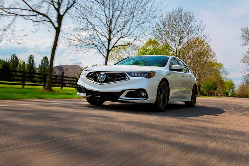2020 Acura TLX front view White