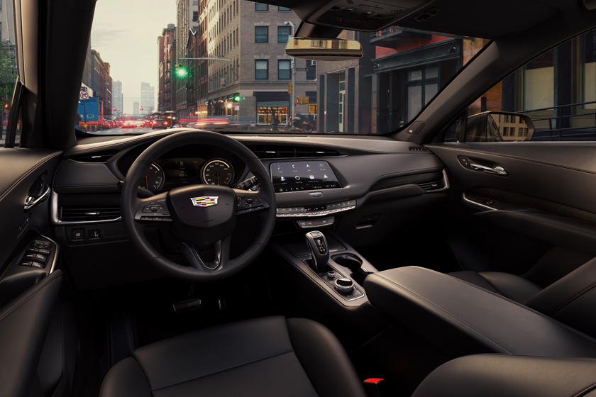 2020 Cadillac XT4 cockpit area, black dashboard