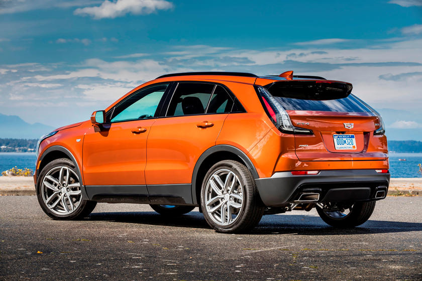 2020 Cadillac XT4 in orange color, rear fascia