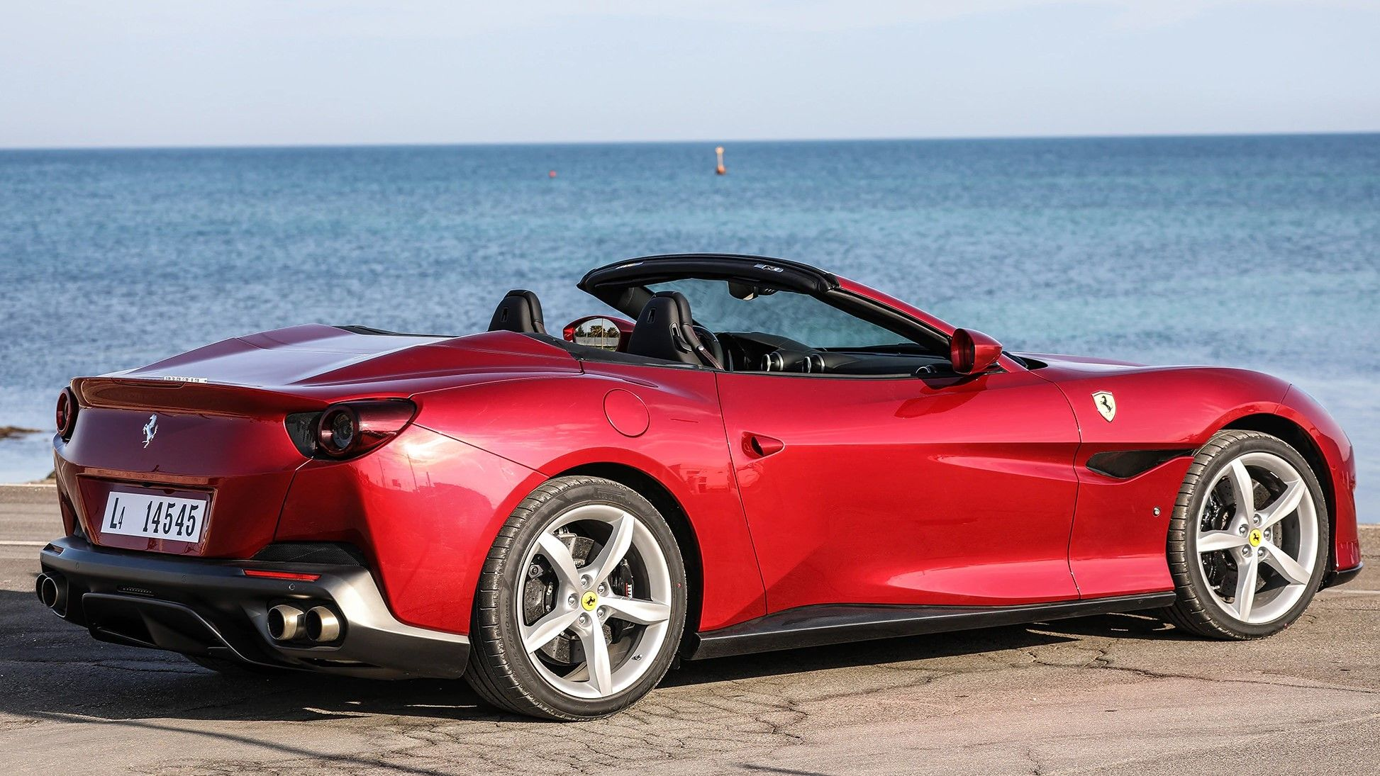 2019 Ferrari Portofino Rear Three-quarter View