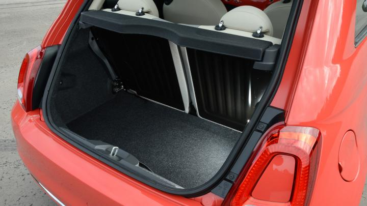2020 Fiat 500 hatchback cargo space