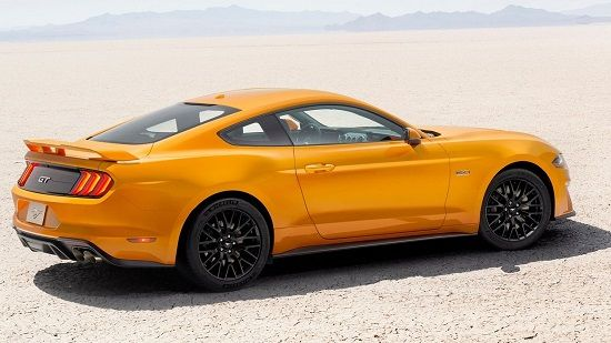 2020 Ford Mustang GT Fastback Rear Three-Quarter View