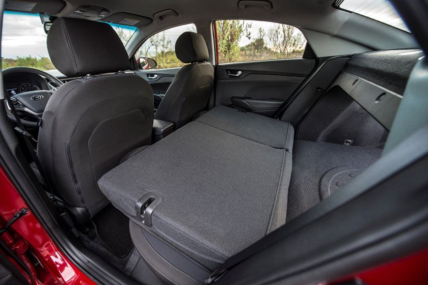 2020 Hyundai Accent rear seat folded