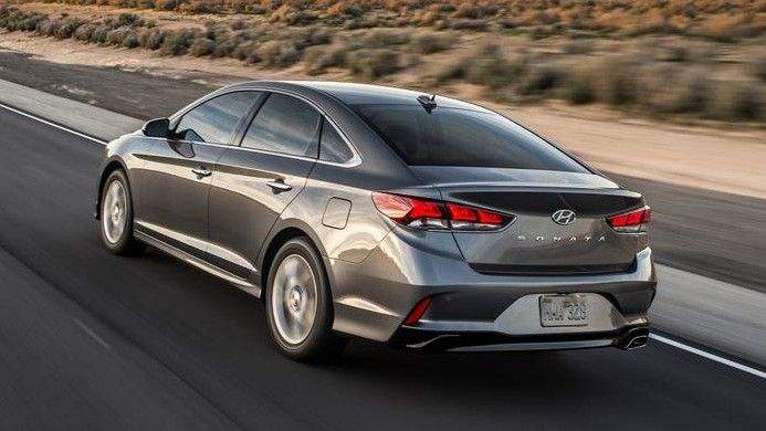 2020 Hyundai Sonata Rear Three-quarter View