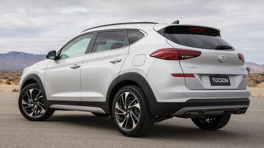 2020 Hyundai Tucson Rear Three-quarter View