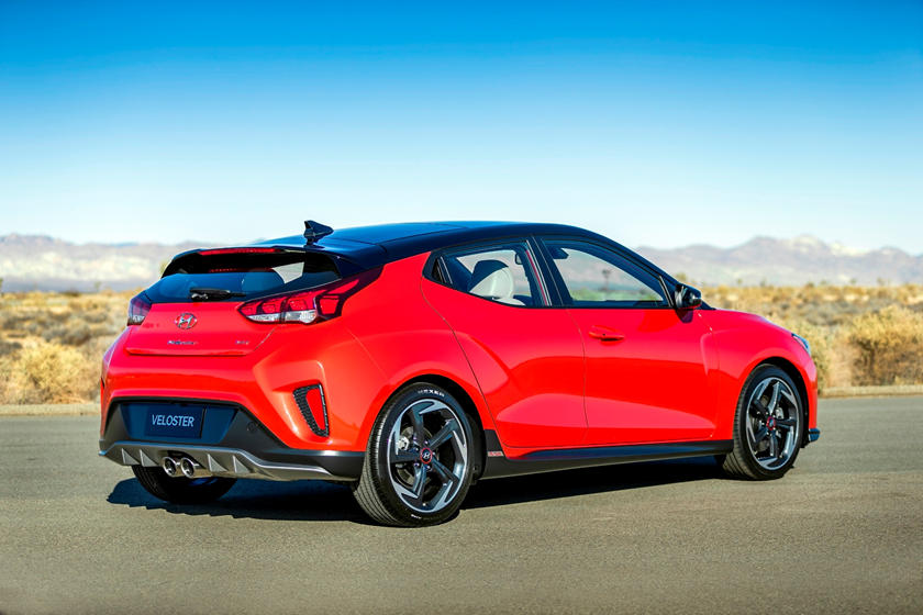 2019 Hyundai Veloster rear view