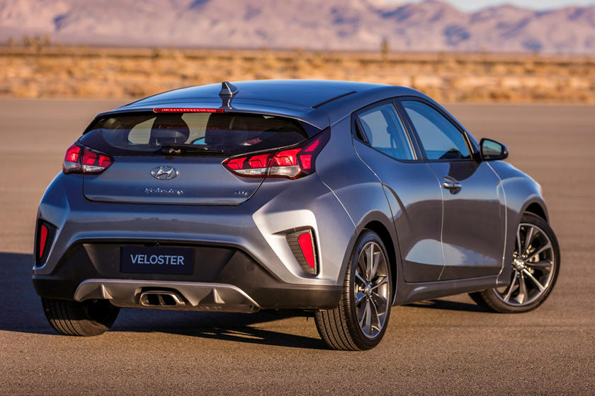 2020 Hyundai Veloster Rear Three-quarter View