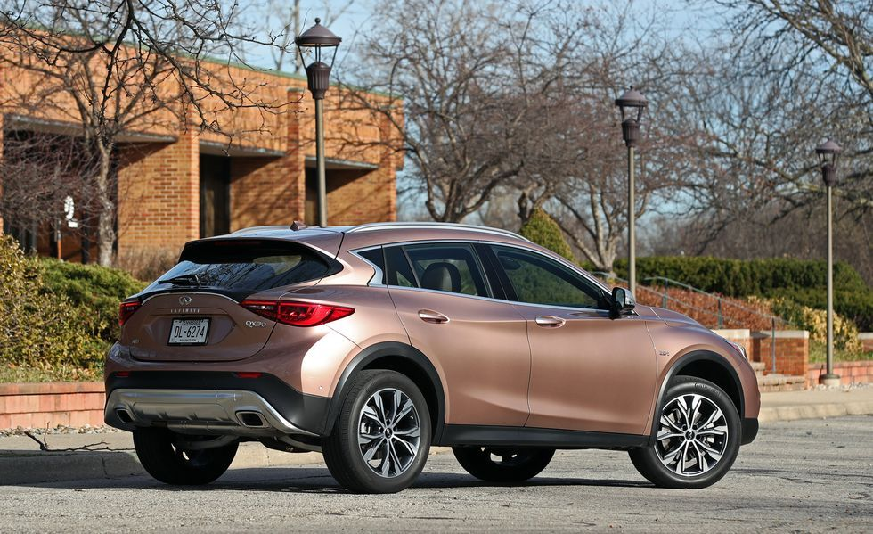 2019 Infiniti QX30 Rear Three-quarter View