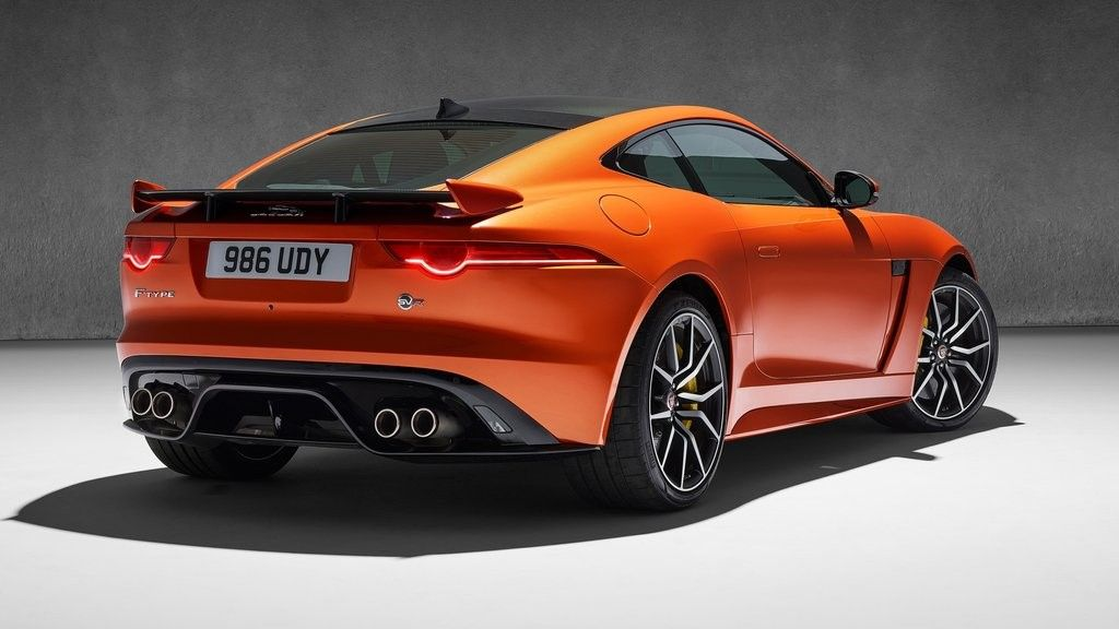 2019 Jaguar F-Type SVR coupe rear view