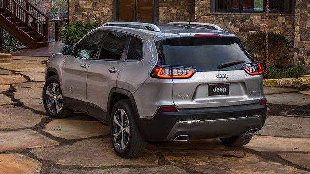 2020 Jeep Cherokee Rear Three-quarter View