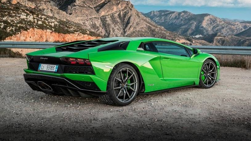 2019 Lamborghini Aventador S Rear Three-quarter View