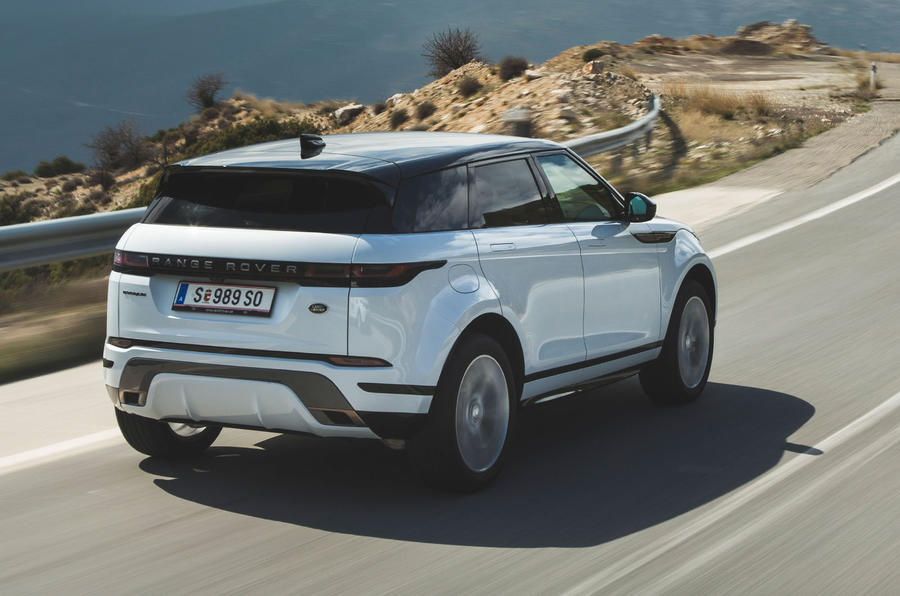 2020 Range Rover Evoque rear view
