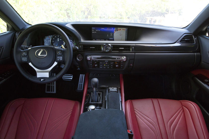 2020 Lexus GS F cockpit area