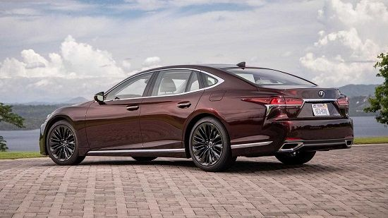 2020 Lexus LS 500 Rear Three-Quarter View