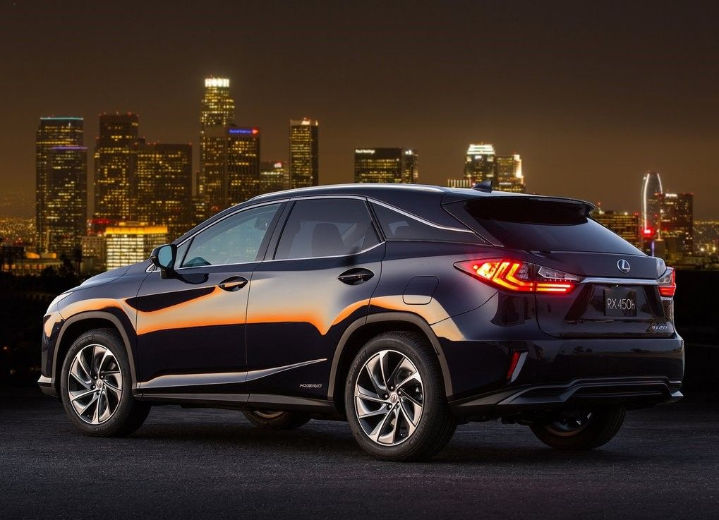 2020 Lexus RX 450h Angular Rear View