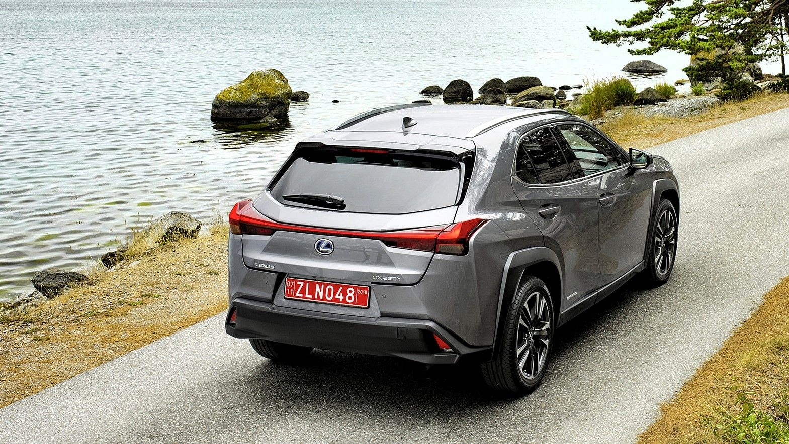 2020 Lexus UX 250h front rear quarters gray