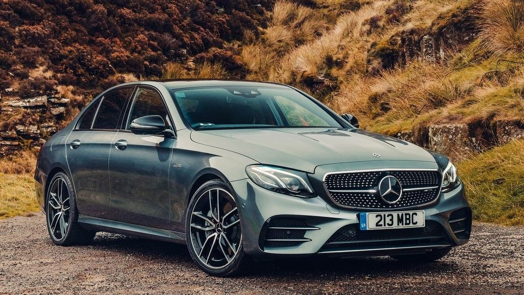 2019 Mercedes Benz E 53 AMG sedan front view
