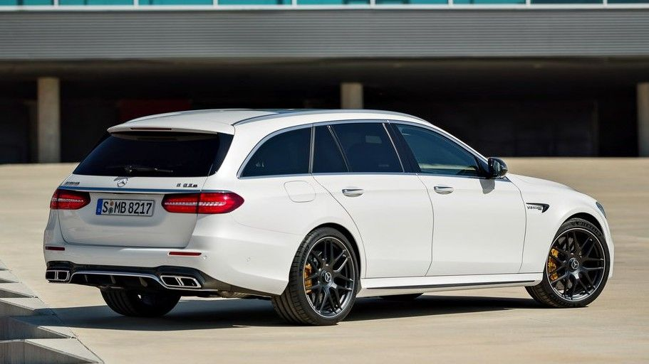 2019 Mercedes-Benz E63 S AMG Wagon Rear Three-quarter View