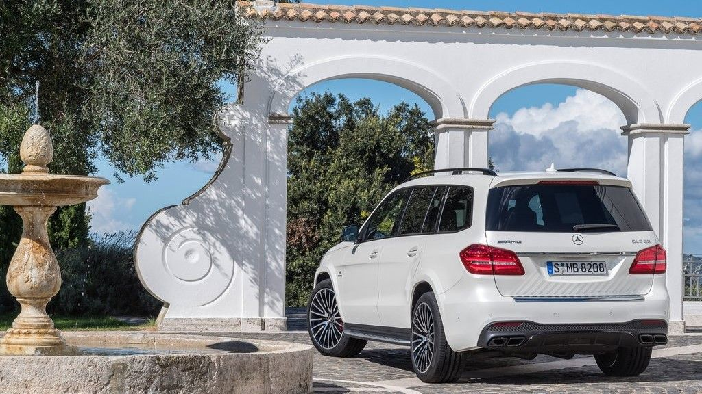 2019 Mercedes Benz GLS 63 AMG rear view