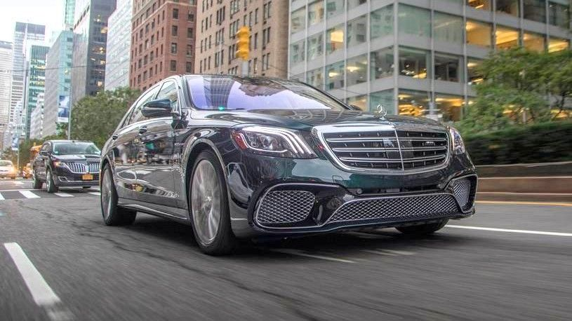 2020 Mercedes AMG S 65 Sedan front three quarters green