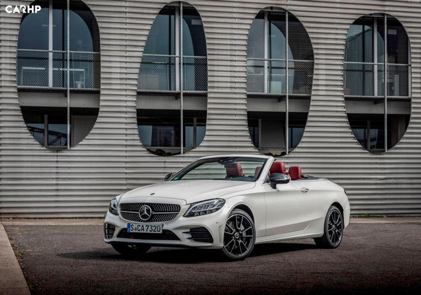 Mercedes-Benz C class convertible white front three quarter