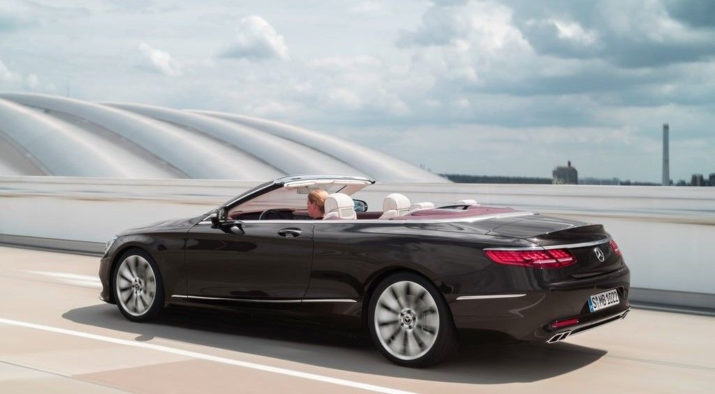2020 Mercedes Benz S Class Cabriolet rear view
