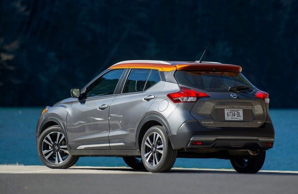 2020 Nissan Kicks rear three quarter view