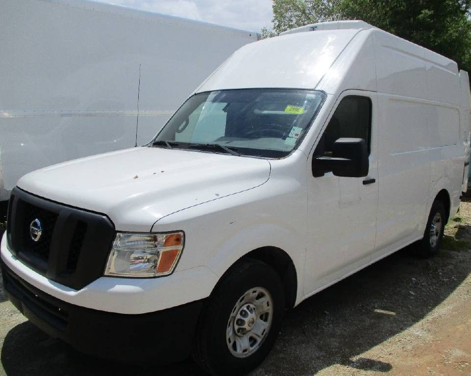2020 Nissan NV Cargo van front three quarters white