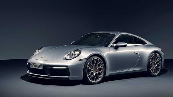 2020 Porsche 911 Carrera Coupe Front Three-Quarter View