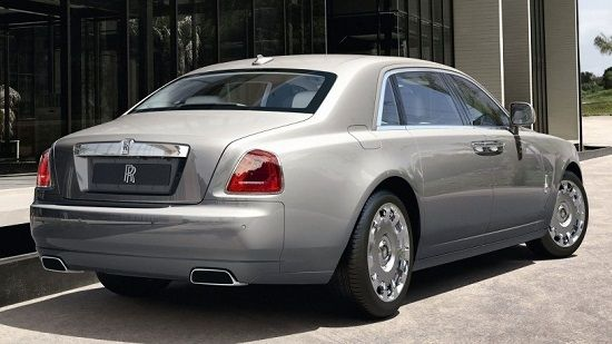 2019 Rolls-Royce Ghost Rear Three-Quarter View