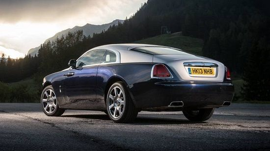 2020 Rolls-Royce Wraith Rear Three-Quarter View