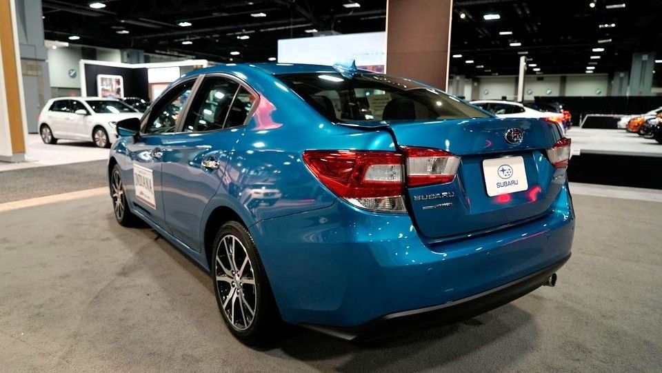 2019 Subaru Impreza Sedan rear three quarters blue
