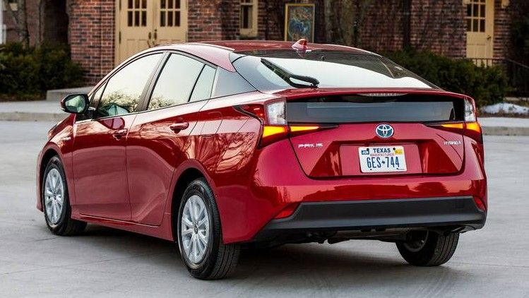 2020 Toyota Prius Hybrid Rear Three-quarter View