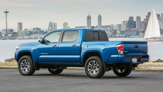 2020 Toyota Tacoma Double Cab Rear Three-Quarter View