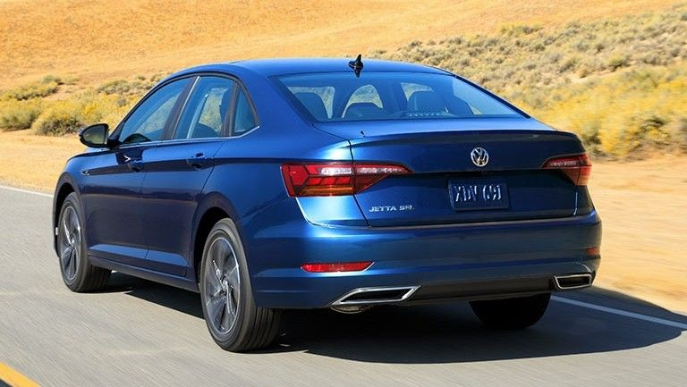 2020 Volkswagen Jetta Rear Three-quarter View