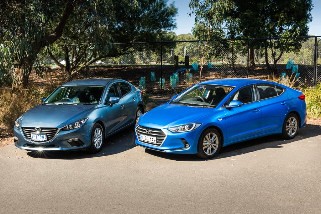 Hyundai Elantra Sedan vs Mazda Mazda3 Sedan