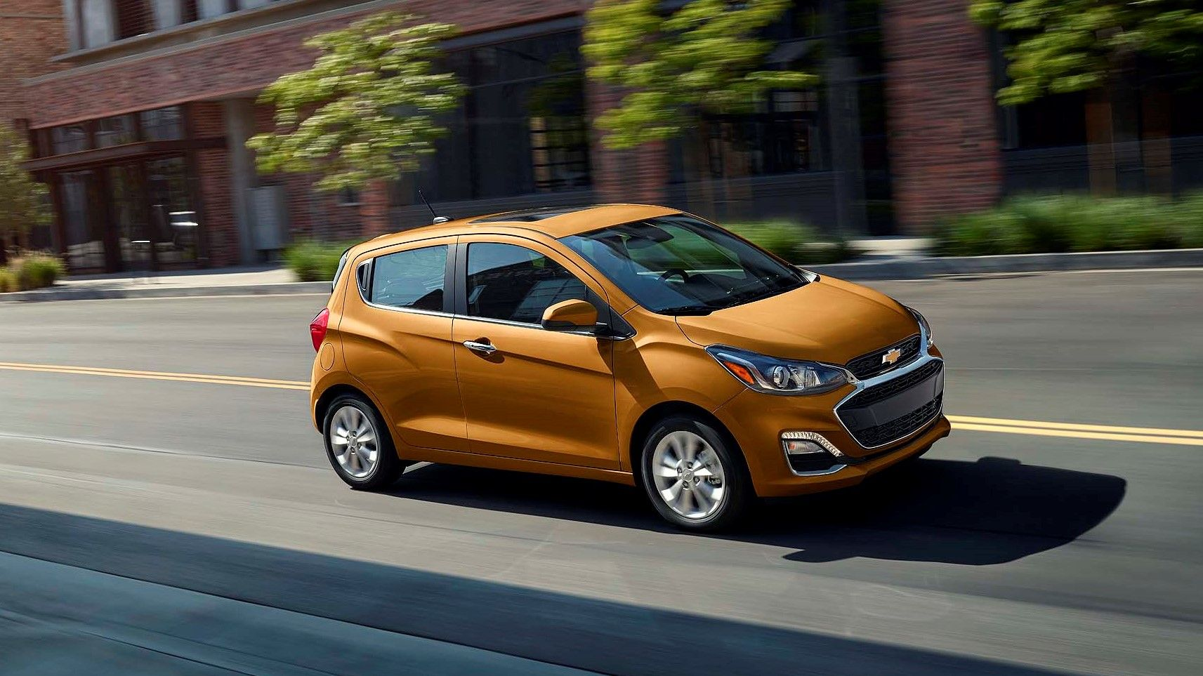 2019 chevrolet spark green ride at speed