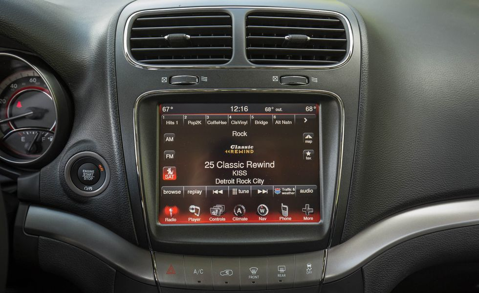 2019 dodge journey infotainment display