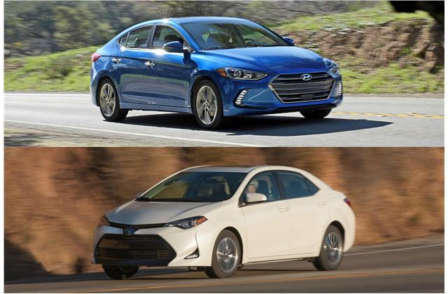 Hyundai Elantra Sedan vs. Toyota Corolla Sedan