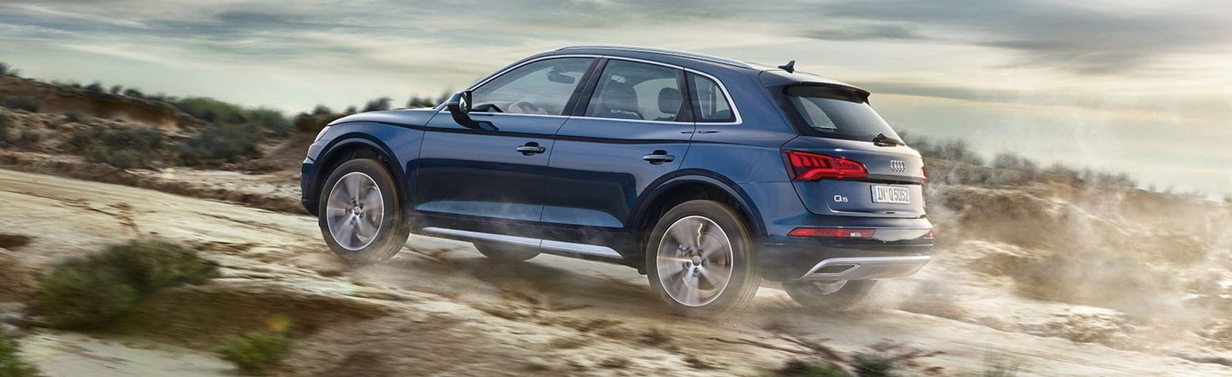 2019 audi sq5 blue in rainy weather