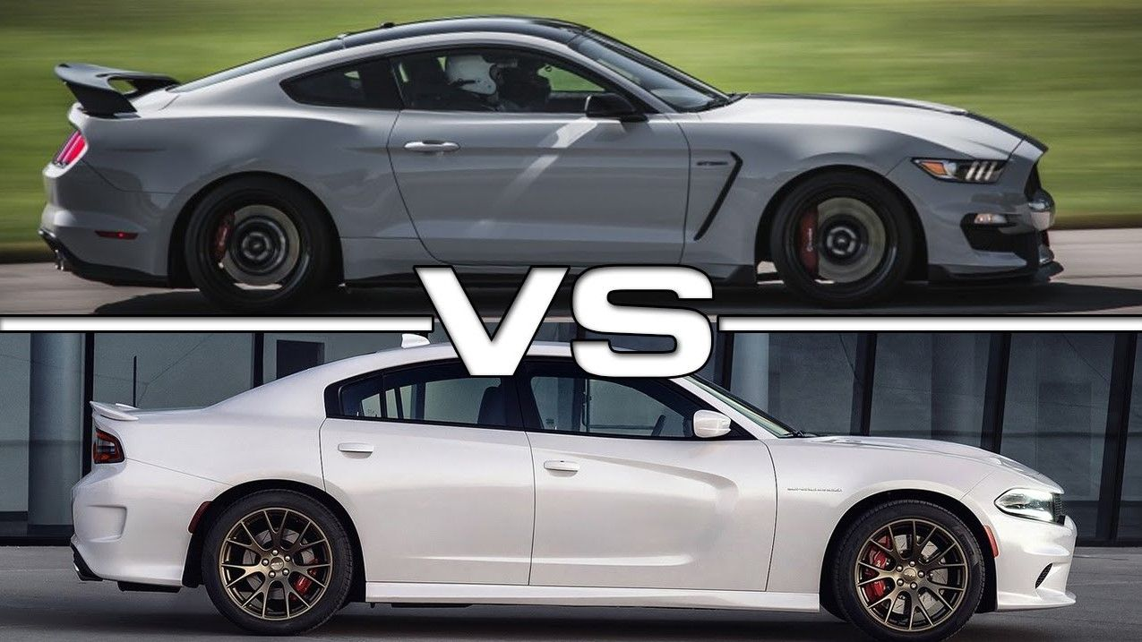 Dodge Charger SRT Hellcat vs. Ford Shelby Mustang GT 350R