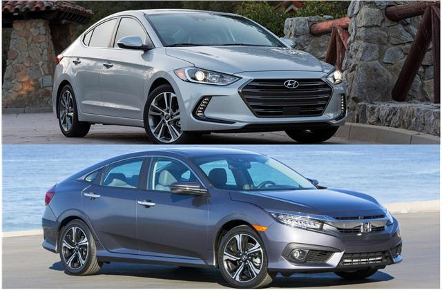 Hyundai Elantra Sedan vs. Honda Civic Sedan