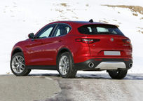 2019 Alfa Romeo Stelvio Rear 3 Quarter View
