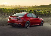 2019 Alfa Romeo Giulia Quadrifoglio Sedan Rear 3 Quarter View