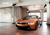 2019 BMW i8 plug-in hybrid Convertible Front View