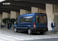 2019 Ford Transit Passenger Van Rear 3 Quarter View