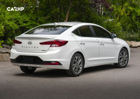 2019 Hyundai Elantra Rear 3 Quarter View