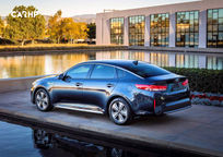 2019 Kia Optima hybrid Sedan Rear 3 Quarter View