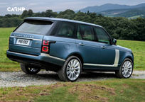 2019 Land Rover Range Rover plug-in hybrid SUV Rear 3 Quarter View