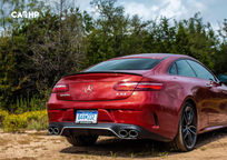 2019 Mercedes-Benz AMG E 53 Coupe Rear 3 Quarter View